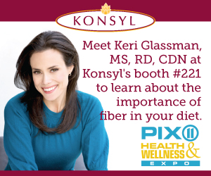 Keri Glassman and Konsyl Fiber at the PIX11 Health and Wellness Expo